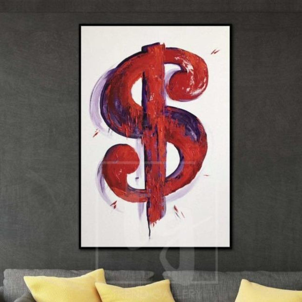 Large Dollar Painting On Canvas Painting Dollar Painting Modern Abstract Canvas Painting | CAPITAL - Trend Gallery Art | Original Abstract Paintings