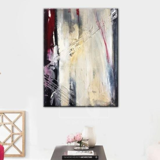 Large Oil Painting On Canvas Black And White Abstract Art Red Abstract Art | TWILIGHT DREAMS - Trend Gallery Art | Original Abstract Paintings