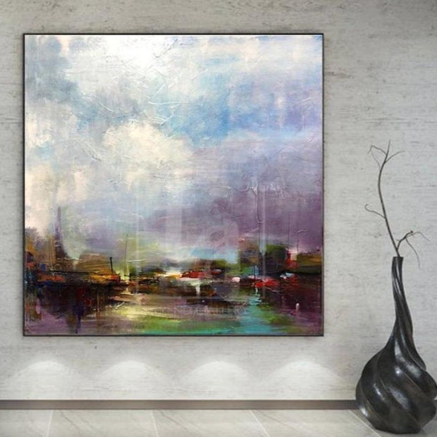 Large Oil Painting Original Canvas Abstract Landscape Painting Texture Trend Gallery Art Original Abstract Paintings