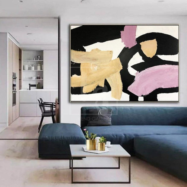 Large Oil Paintings On Canvas Modern Abstract Artwork Acrylic Painting Abstract | HEART SOUNDS - Trend Gallery Art | Original Abstract Paintings