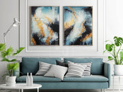 Large Original Painting On Canvas Colorful Art Contemporary Art Abstract 2 Piece | AUTUMN SPIRIT - Trend Gallery Art | Original Abstract Paintings