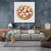 Large Pizza Painting Colorful Oil Painting Abstract Modern Art Pizza | DELIZIOSO - Trend Gallery Art | Original Abstract Paintings