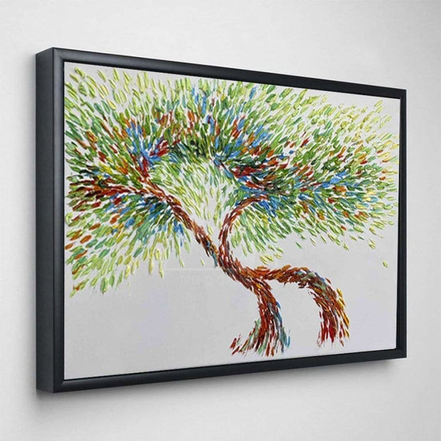 Large Tree Abstract Painting Abstract Oil Tree Artwork Modern Tree Paintings On Canvas Contemporary Tree Oil Painting | ATTRACTION