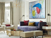 Large Wall Art Canvas Colorful Painting Painting Art Painting Abstract Oil Canvas | WOMEN'S DREAMS - Trend Gallery Art | Original Abstract Paintings