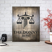 Law Firm Custom Logotype Lawyer Gift Law Firm Decor Attorney Gift Attorney Office Decor Law Company Logo Print Customized Wooden Logo Decor