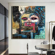 Modern Street Art Original Graffiti Art Unique Abstract Wall Paintings Neo Expressionism Painting | POWER - Trend Gallery Art | Original Abstract Paintings