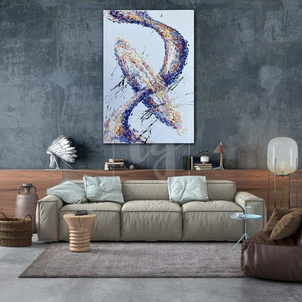 Original Calming Painting Abstract Artwork Modern Abstract Painting | GALACTIC SWIRL - Trend Gallery Art | Original Abstract Paintings