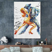 Original Dancing Couple Abstract Artwork Large Dancing Couple Painting | INTENSITY OF EMOTIONS - Trend Gallery Art | Original Abstract Paintings