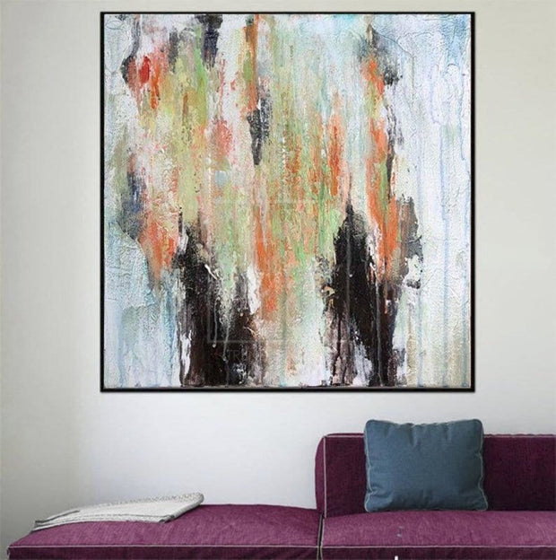 Original Thick Colorful Painting Large Abstract Artwork Abstract Painting | LOWLAND - Trend Gallery Art | Original Abstract Paintings