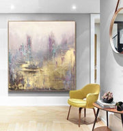 Original Wall Artwork Unique Gold Leaf Painting Large Original Abstract Painting | ASTRAL BODIES - Trend Gallery Art | Original Abstract Paintings
