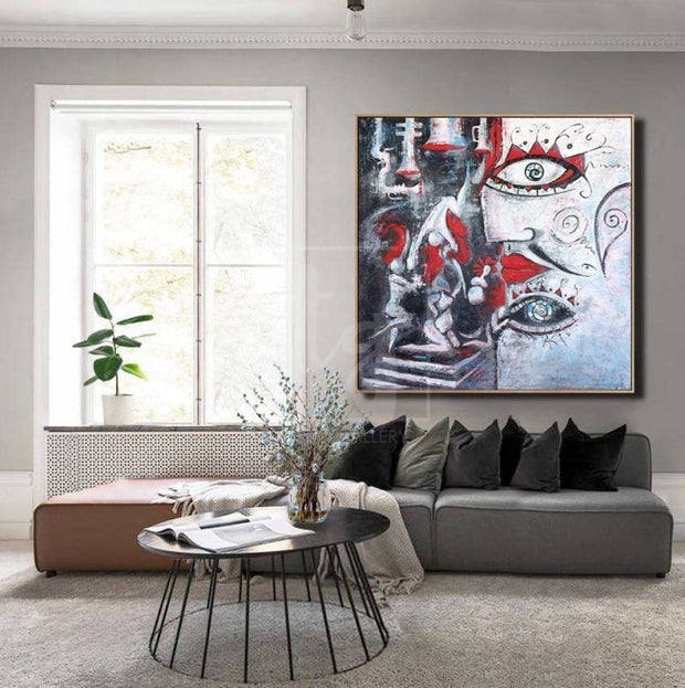 Oversized Abstract Wall Painting On Canvas Black Painting Faceless Void Abstract | BACKSTAGE GAMES - Trend Gallery Art | Original Abstract Paintings