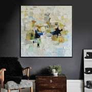 Painting Colorful Painting White Painting Original Painting On Canvas | DARK MOSAIC - Trend Gallery Art | Original Abstract Paintings