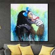 Pop Art Monkey Painting Large Monkey Paintings On Canvas Original Painting | SECLUDED MOOD - Trend Gallery Art | Original Abstract Paintings