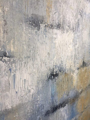 Abstract Painting in Multicolored, White and Grey | BLURRED MIST - Trend Gallery Art | Original Abstract Paintings