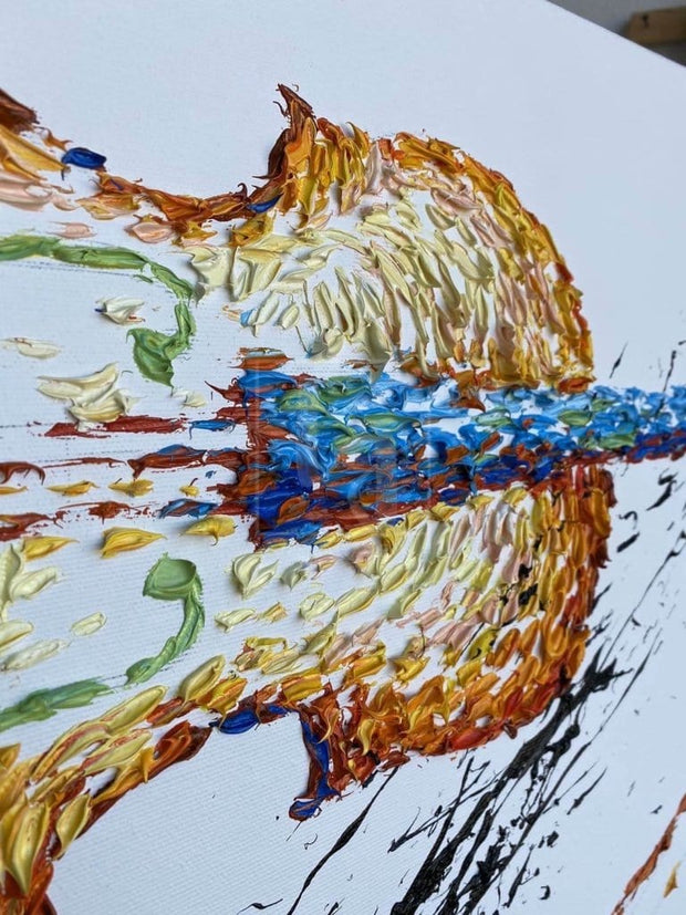 Violin Abstract Painting Original Violin Artwork Modern Music Instrument Painting | CREATIVE PATH - Trend Gallery Art | Original Abstract Paintings