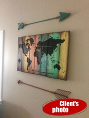 Wood Wall Art Large Colorful Wood Wall Art Colorful Wood Sign Customized Sign Gift For Him Wood Art | WOOD DECOR# 59 - Trend Gallery Art | Original Abstract Paintings