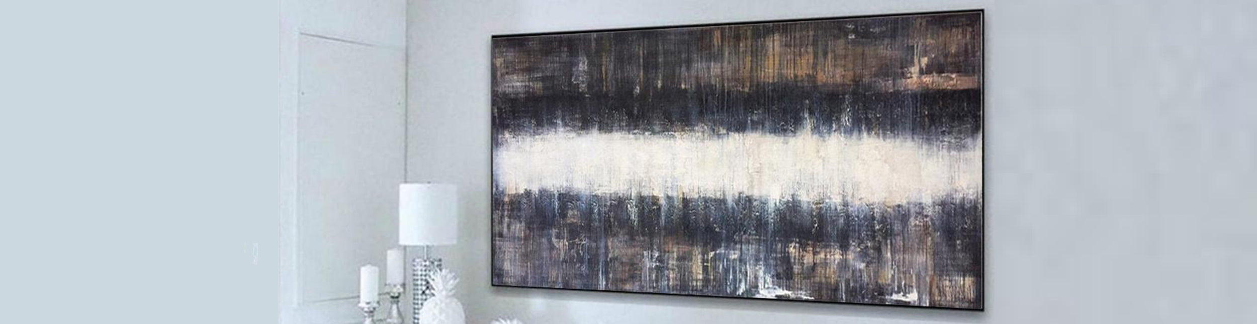 How to decorate a hallway with oil painting canvas