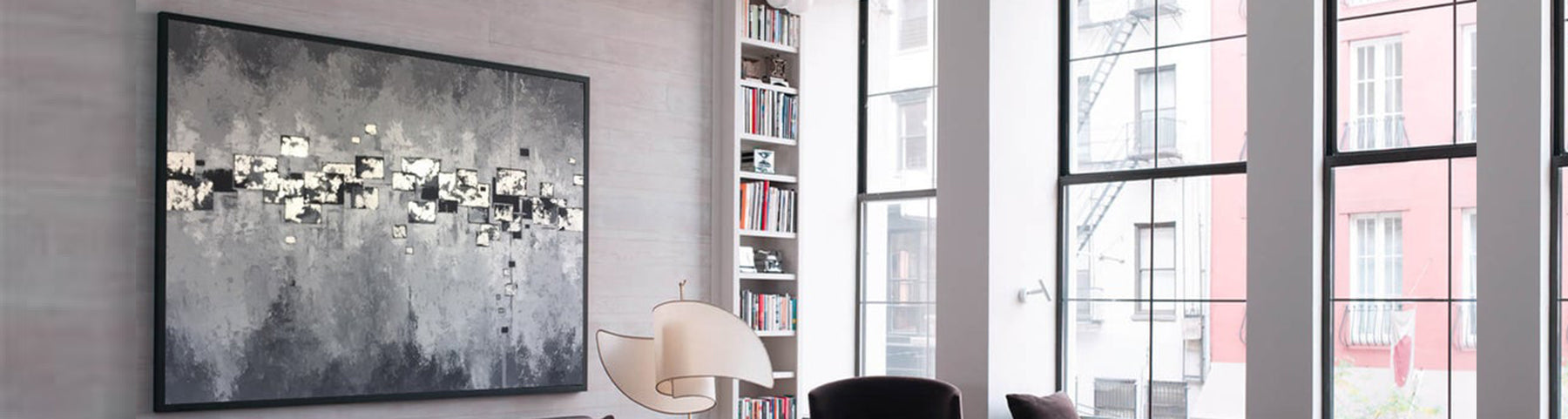 How to decorate an office with minimal art