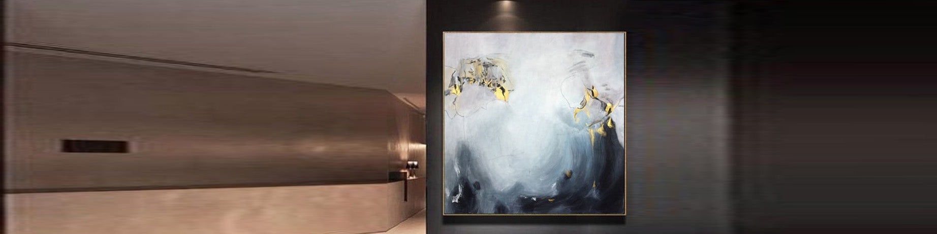 How to decorate a hallway with original art oil