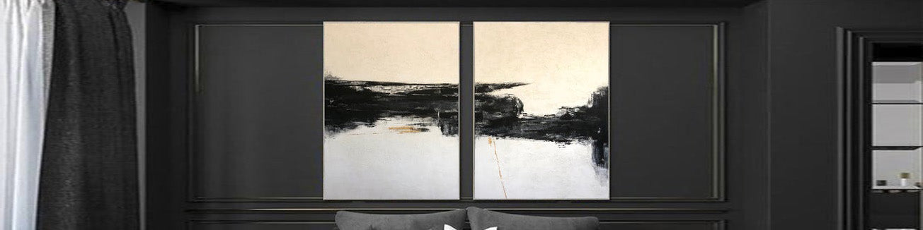 How to decorate a bedroom with painting canvas