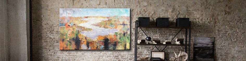 How to decorate a living room with palette knife art