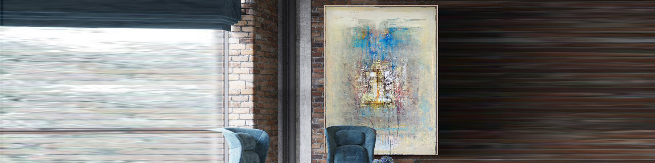 How to decorate an office with oversize artwork