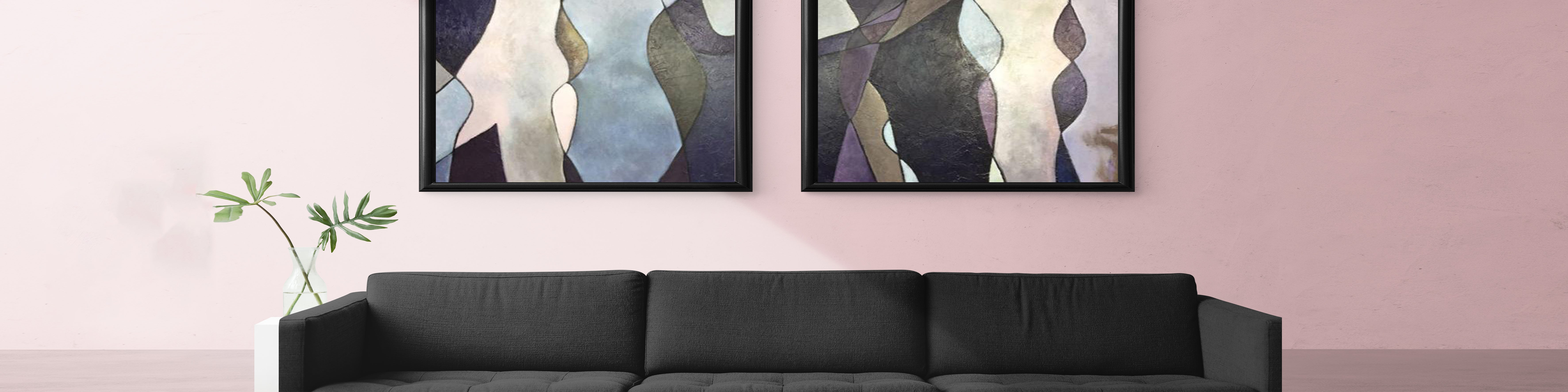 Quick guide on how to decorate a hallway with abstract acrylic art