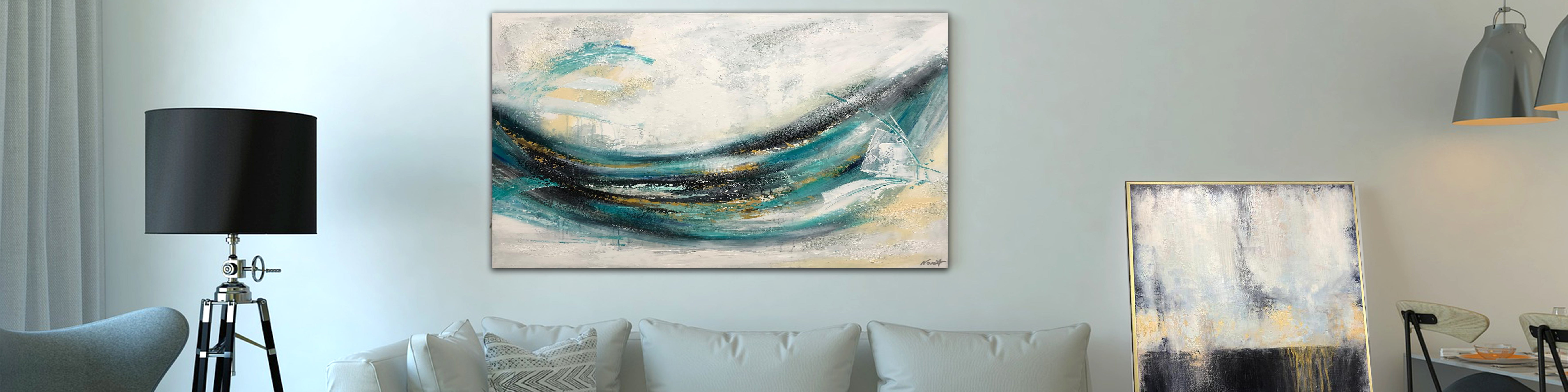 How to decorate a bedroom with original art canvas