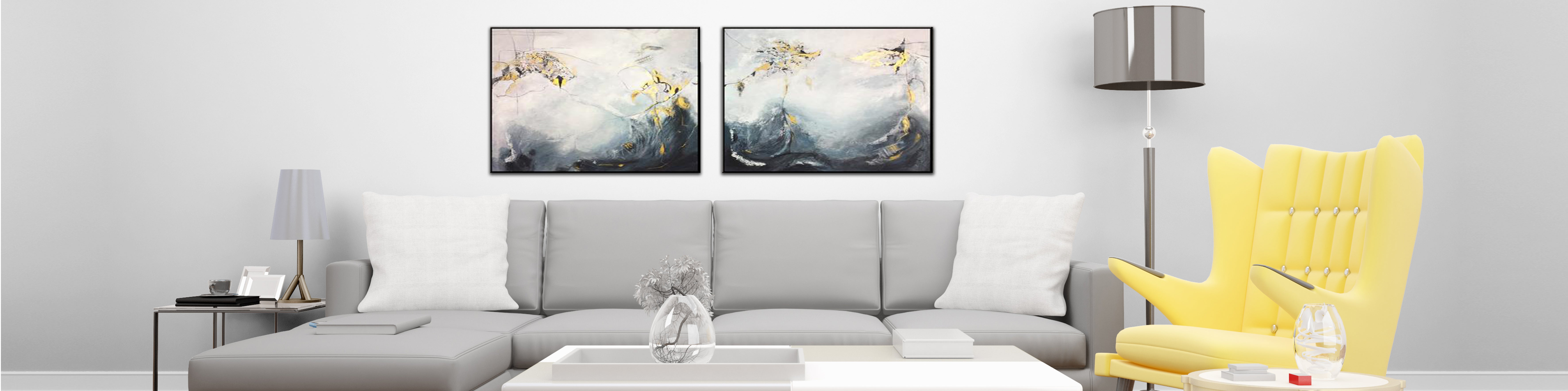 How to decorate a living room with painting acrylic