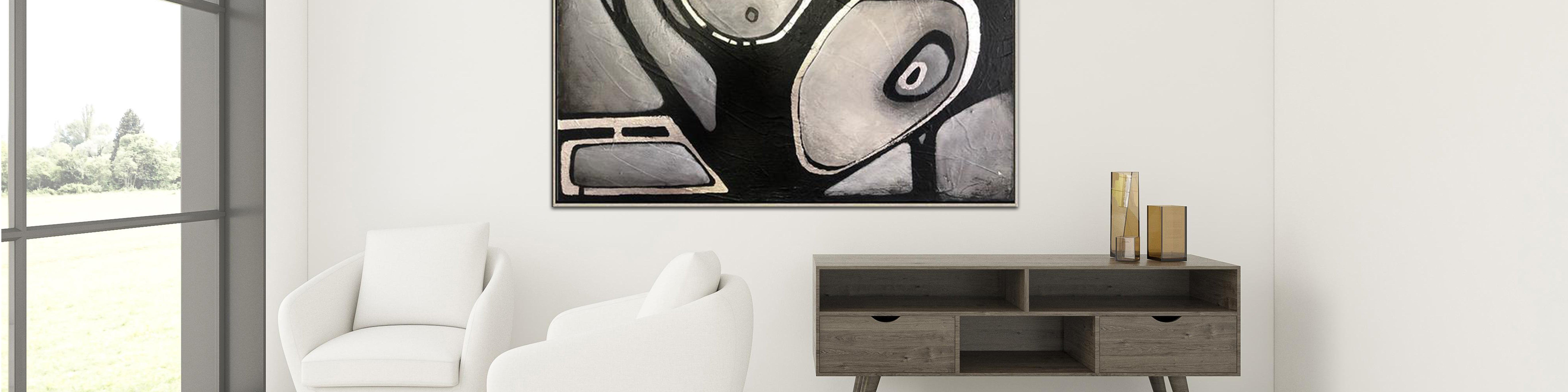 How to decorate an office with original abstract