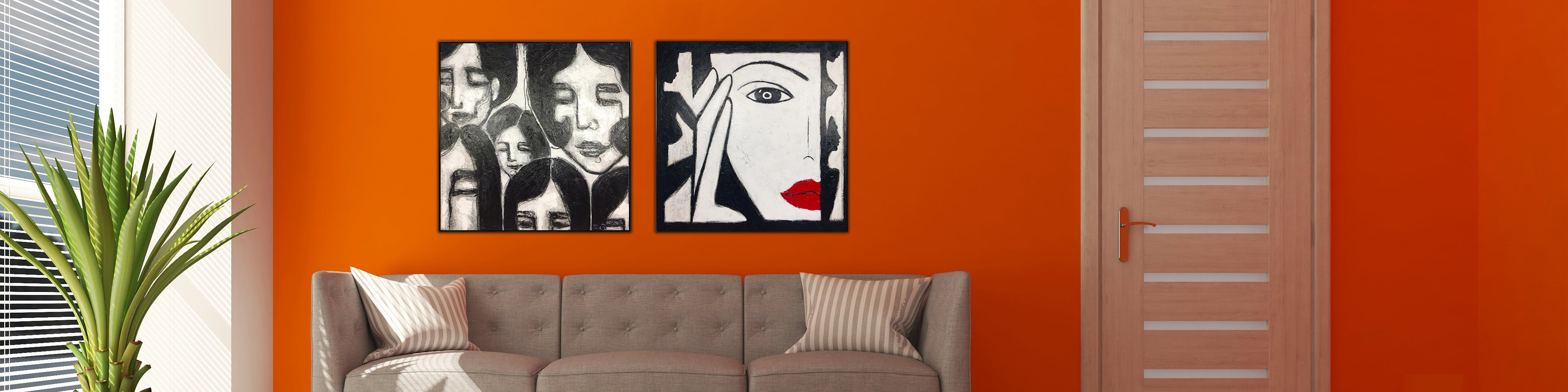 How to decorate a bedroom with abstract art