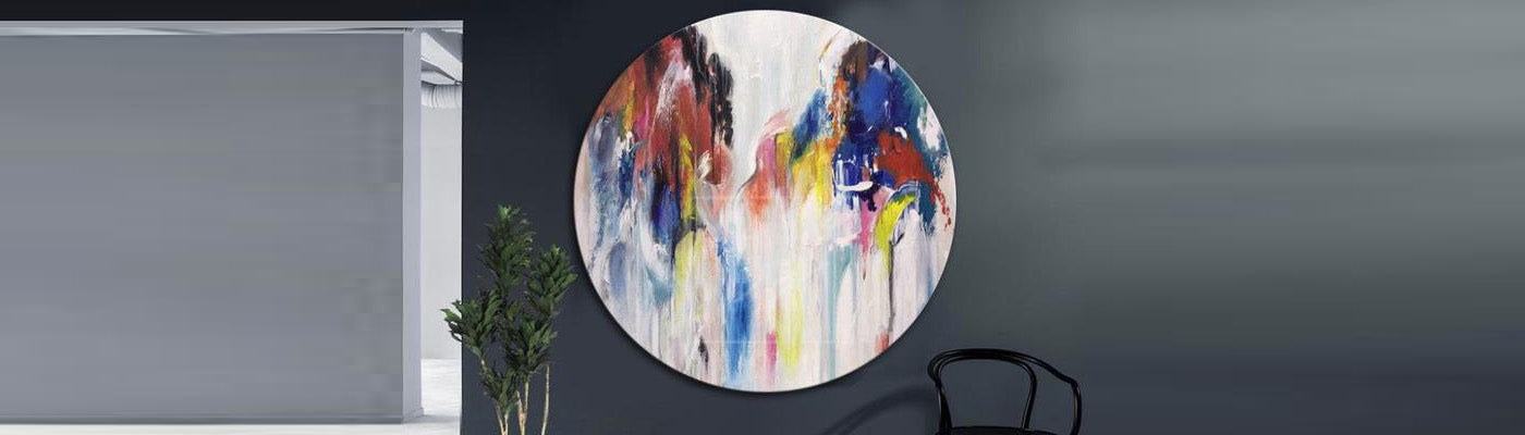 How to decorate a bedroom with modern painting art