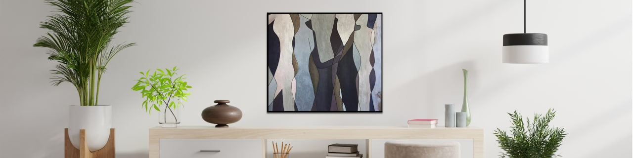 Quick reference guide on how to decorate a bedroom with abstract painting