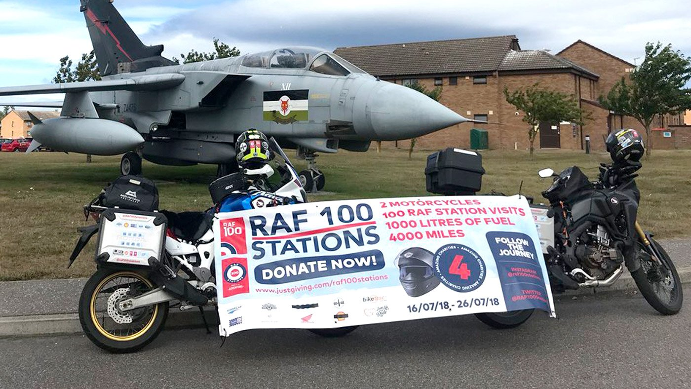 The RAF100APEAL - RAF 100 Stations By Motorcycle