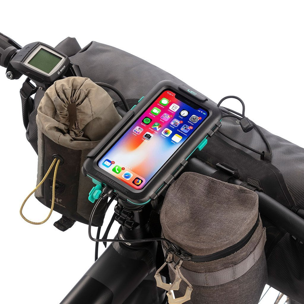 Bike Handlebar Mounting Kit Tough Waterproof Case for Apple iPhone X / XS - Ultimateaddons