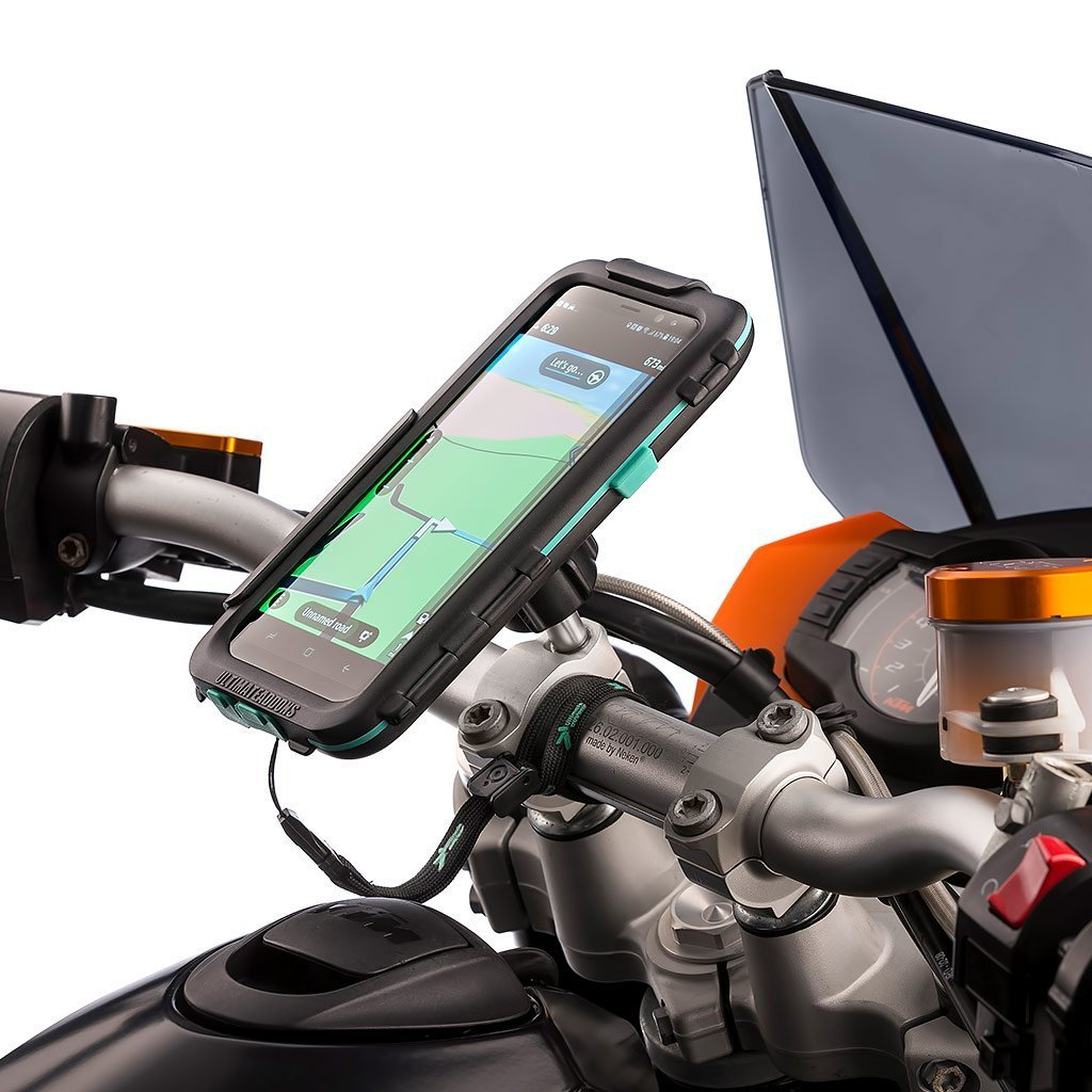 Samsung Galaxy S8 S8+ Waterproof Case Motorcycle Top Clamp Metal Mount - Ultimateaddons
