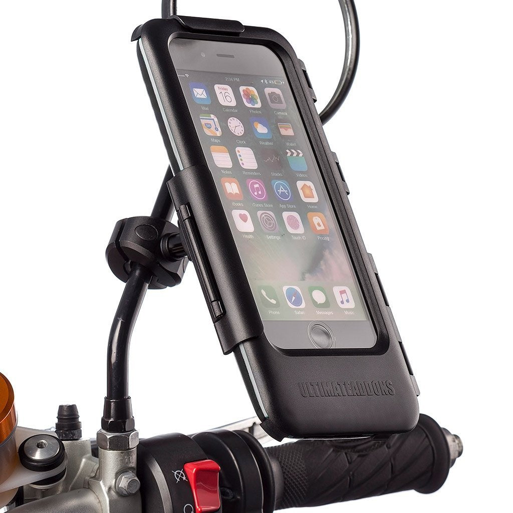 iPhone 6 7 8 / Plus Mirror Mount Motorcycle Tough Case Kit - Ultimateaddons