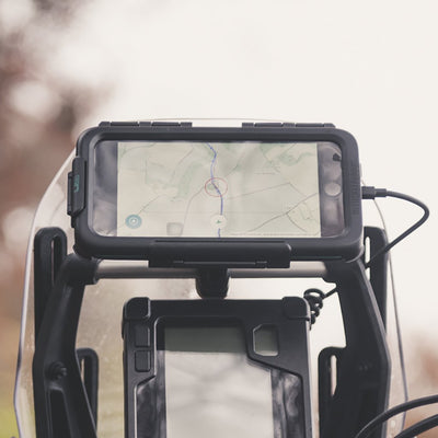 Motorcycle Waterproof Tough Case Crossbar Mount for Apple iPhone X Xs - Ultimateaddons