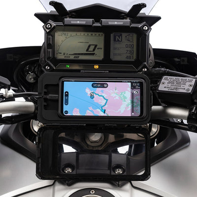 Universal Motorcycle Phone Tough Case with Top Clamp Ball Mount Kit - Ultimateaddons