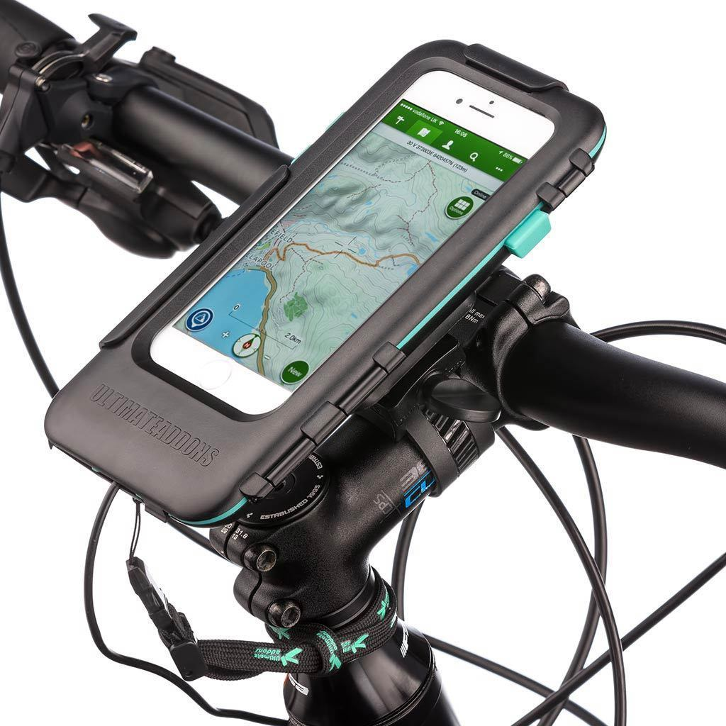 Bicycle Handlebar Mount Kit Tough Waterproof Case for Apple iPhone 6 7 8 / Plus - Ultimateaddons