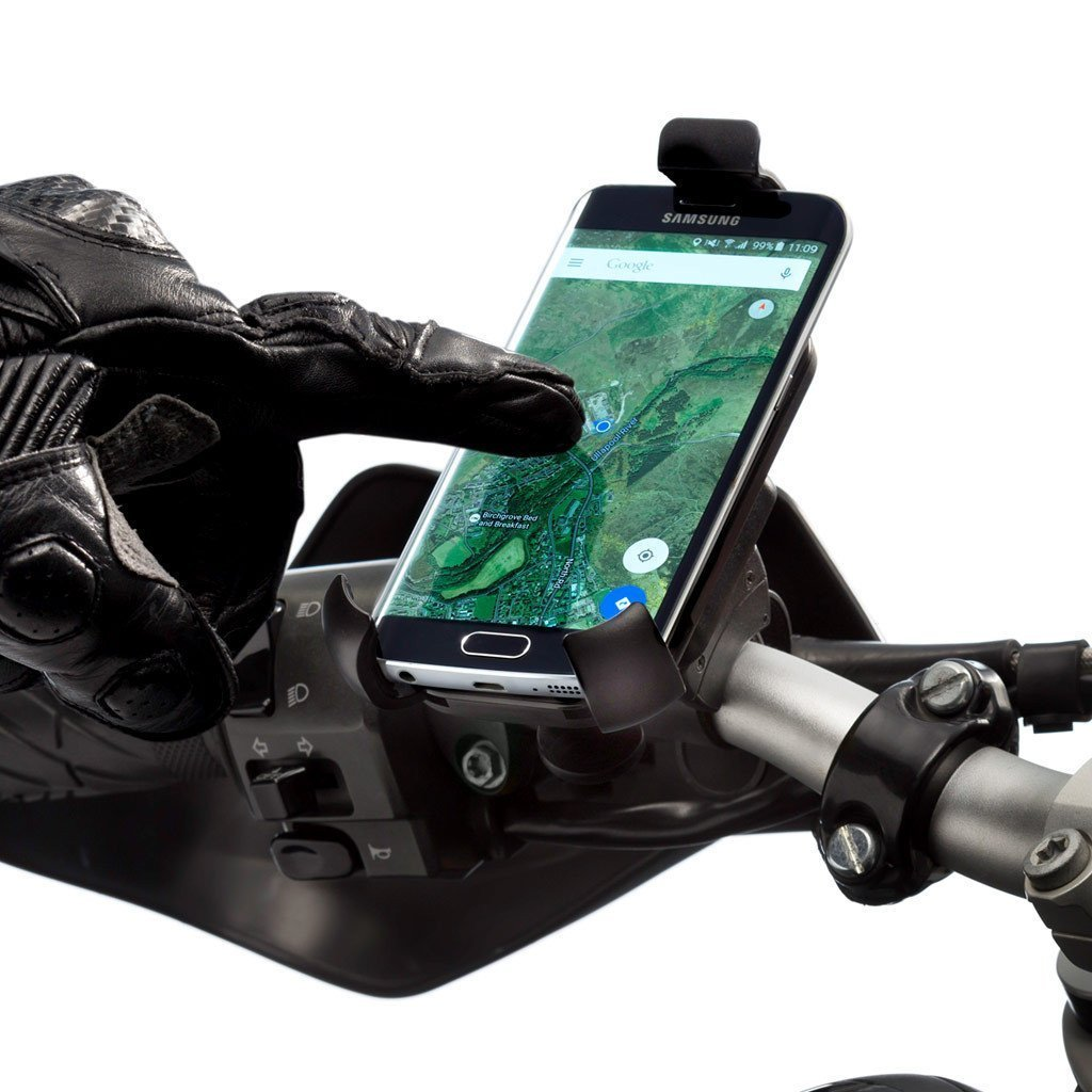 Motorcycle One Holder Handlebar Mount Kit for Apple iPhones - Ultimateaddons