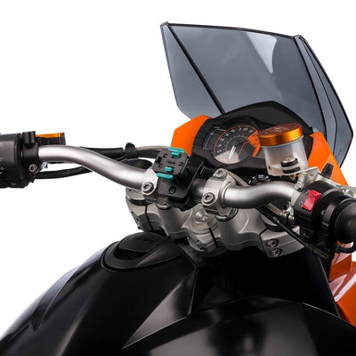 Motorcycle Universal One Adjustable Holder With Handlebar Mount Kit - Ultimateaddons