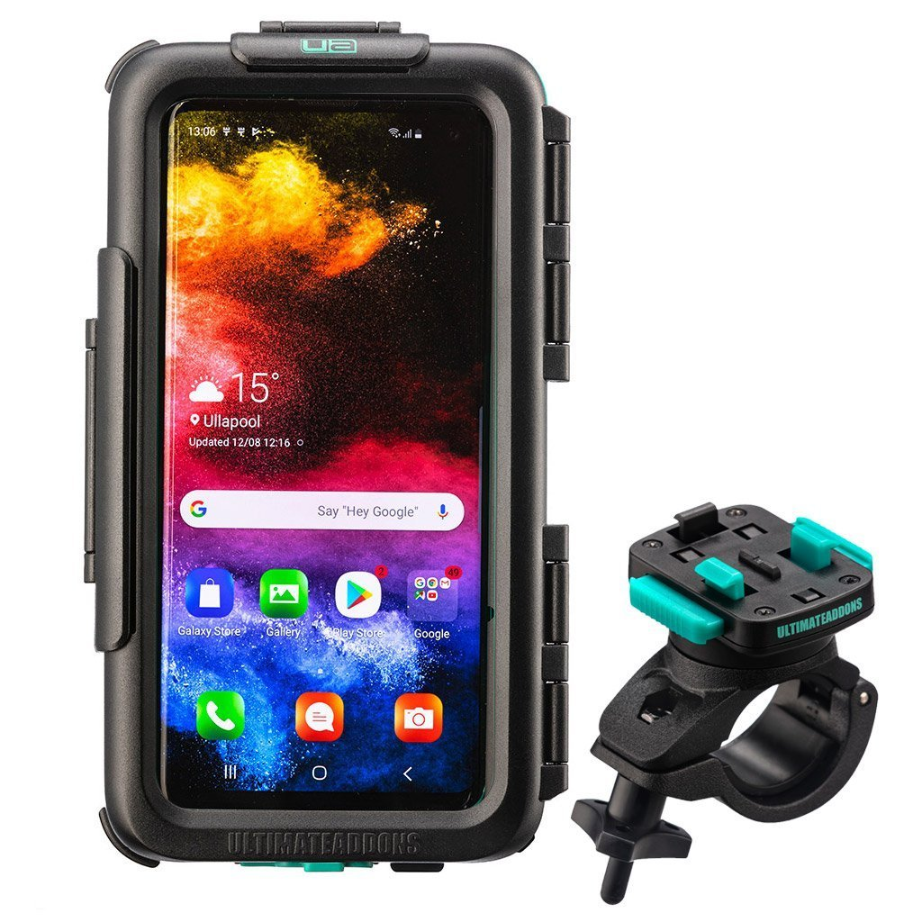 Waterproof Tough Hard Case & Bike Handlebar Mount Kit Samsung Galaxy S10 / S10+ - Ultimateaddons
