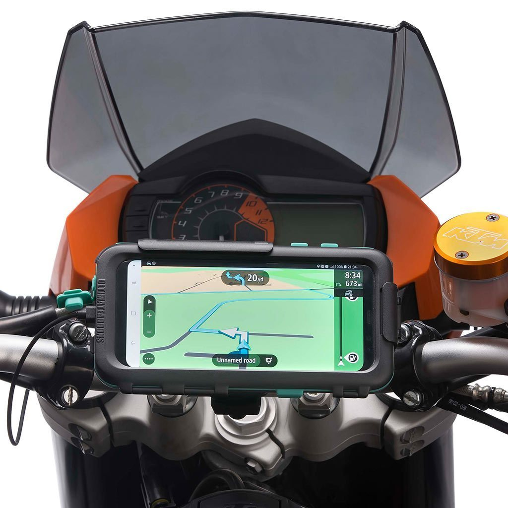 Motorcycle Handlebar Mount Waterproof Tough Case Samsung Galaxy S8 S8+ - Ultimateaddons