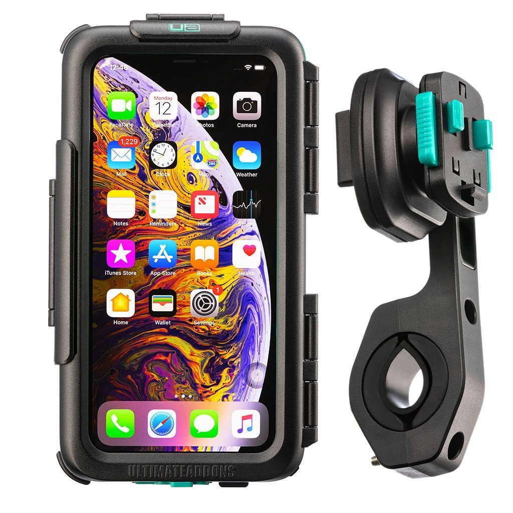 Bike Handlebar Waterproof Tough Case Mounting Kit Apple iPhone XS Max - Ultimateaddons