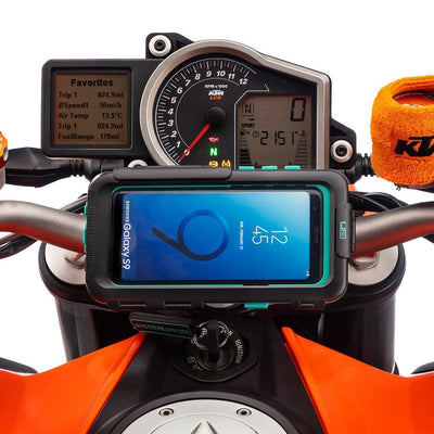 Galaxy S9 S9+ Motorcycle Waterproof Case Top Clamp Mount - Ultimateaddons