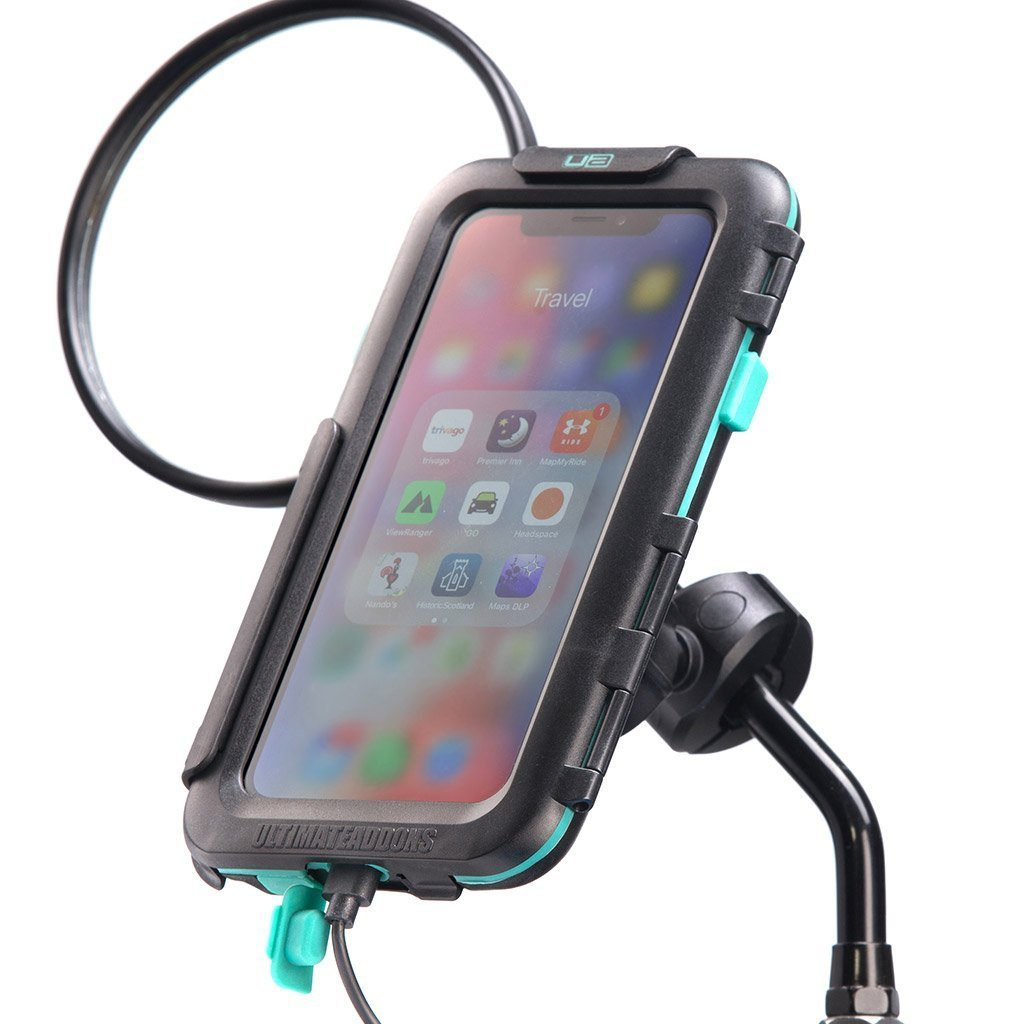 iPhones X / Xs Motorcycle Mirror Mount Tough Case Kit - Ultimateaddons