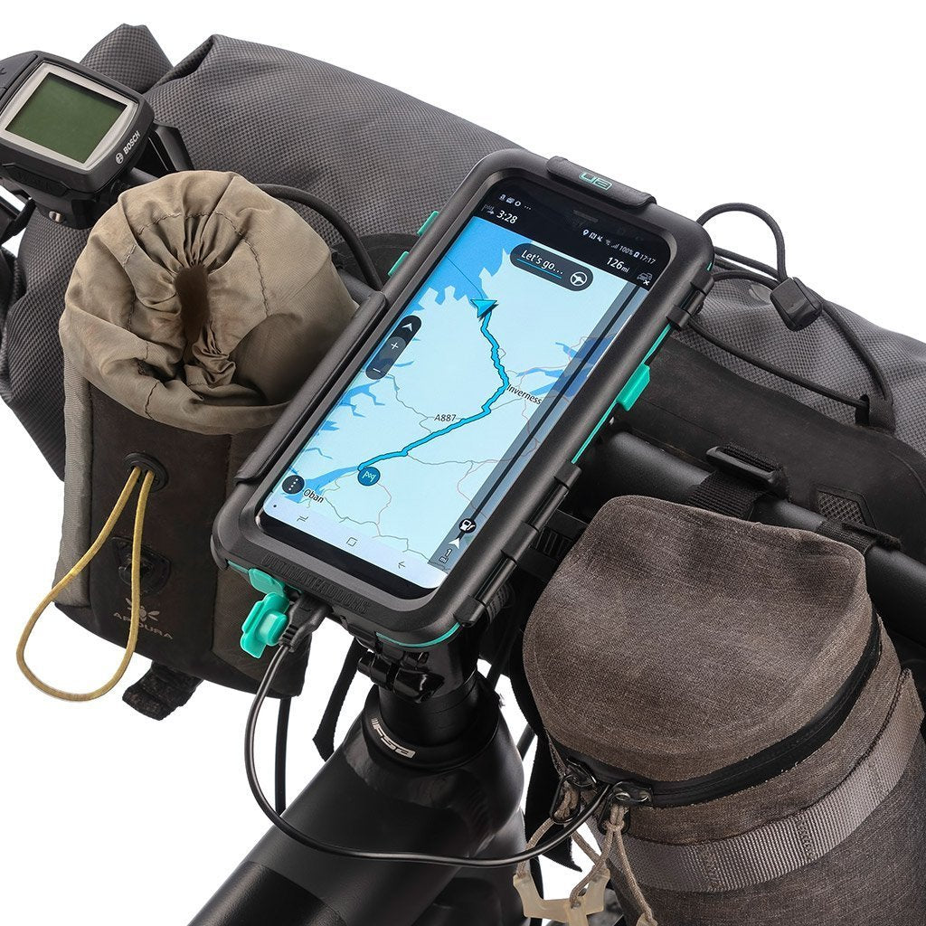 Samsung Galaxy S8 / S8+ Waterproof Tough Cycling GPS Satnav Mount Kit - Ultimateaddons
