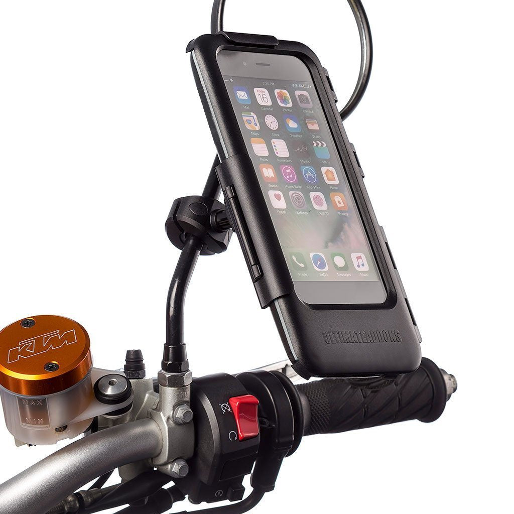 Motorbike Metal Mirror Mount Waterproof Tough Case Kits - Universal Fit Phones - Ultimateaddons
