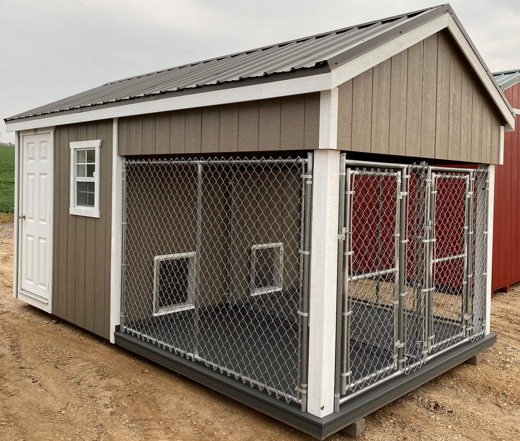 08X16 Ranch Dog Kennel LP Wood Panel Located in Redwood Falls Minnesota